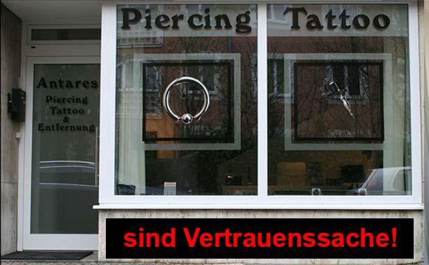 Antares Piercing Tattoo Tattooentfernung München - Eingangsbereich