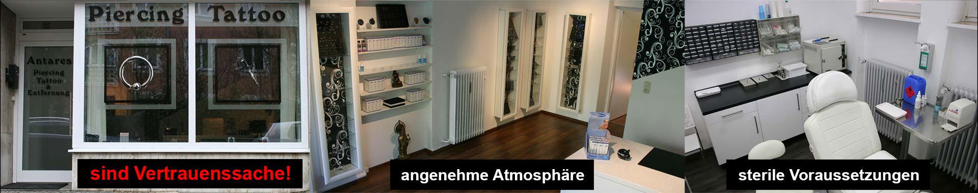 Antares Piercing Tattoo Tattooentfernung München - Eingangsbereich - Warteraum - Behandlungsraum